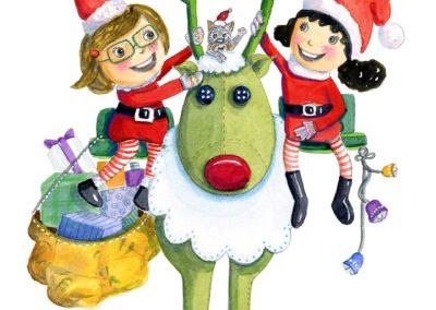 Niñas-navidad-y-reno-fondo-blanco-yolanda-falagan-web