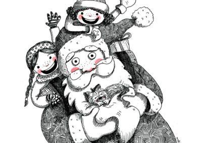 dibujo-navidad-niñas-y-papa-noel-yolanda-falagan-web